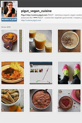 Le compte Instagram de PIGUT