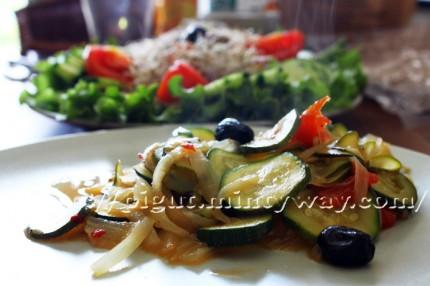 Frichti et salade des premiers rayons de soleil