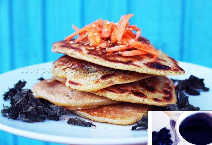 Pancakes Salés Carottes et Orties