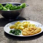 Lentilles Epicées Escortées de Pommes-de-terre