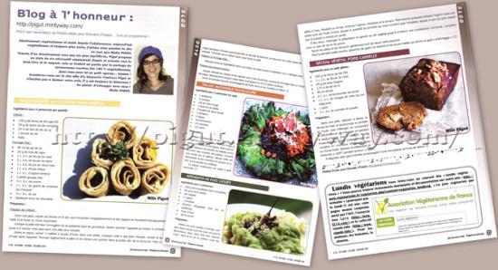 Blog à L'Honneur dans Alternatives Végétariennes
