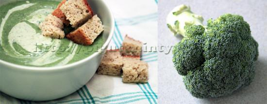 Préparation de vélouté de brocoli végétalien