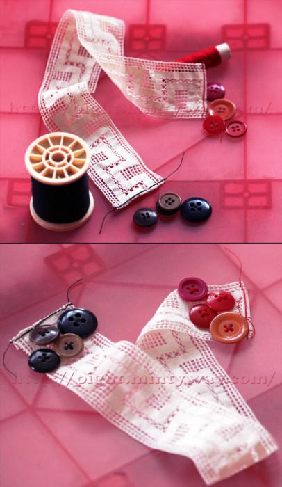 Fabrication d'un marque page en tissu