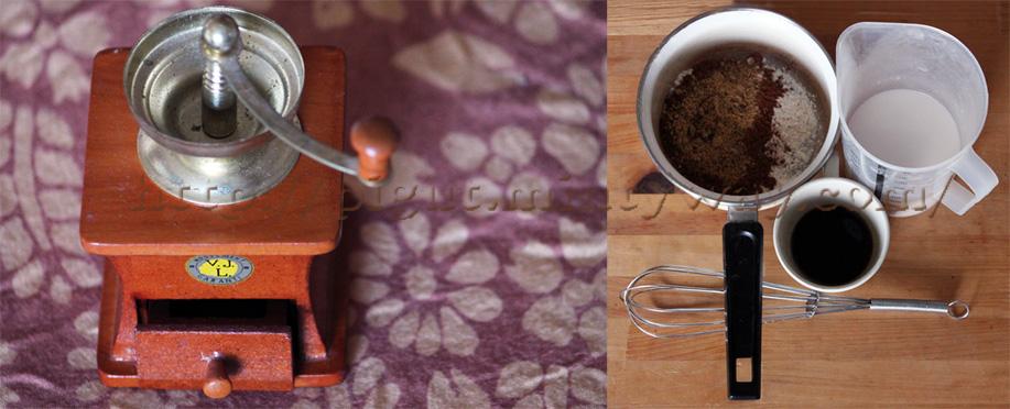 Préparation de la crème de café vegan