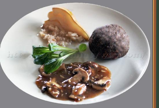 Boulettes de Lentilles, Champignons et SSalade