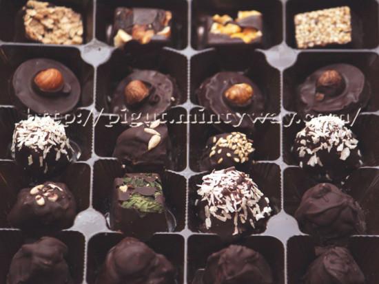 Chocolats de Noël maison