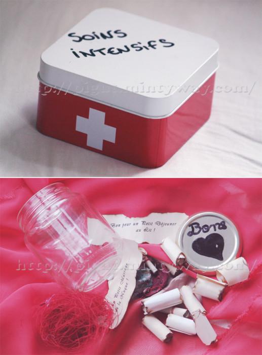 Boîtes pour amoureux avec des bons