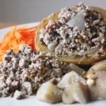 Courge Farçie de Couscous aux Lentilles
