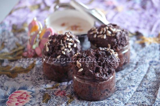 Muffin café caroube aux pépites de chocolat