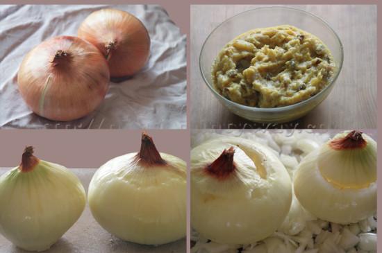 Détails de la préparation de l'Oignon Farçi