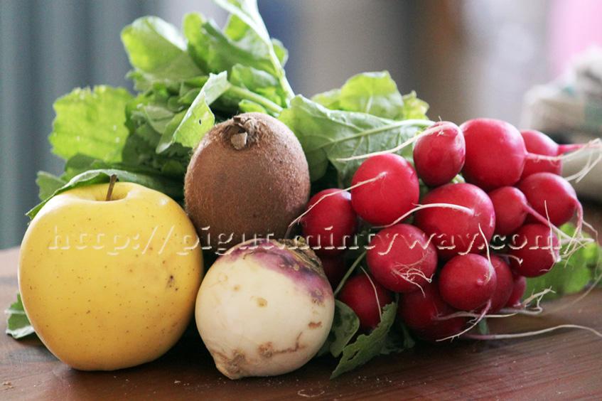 Ingredients Salade Coloree Crue de Printemps