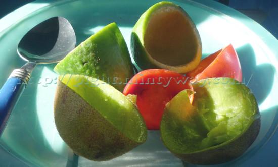 Fruit à cuillère de Nouvelle Zélande - mangés