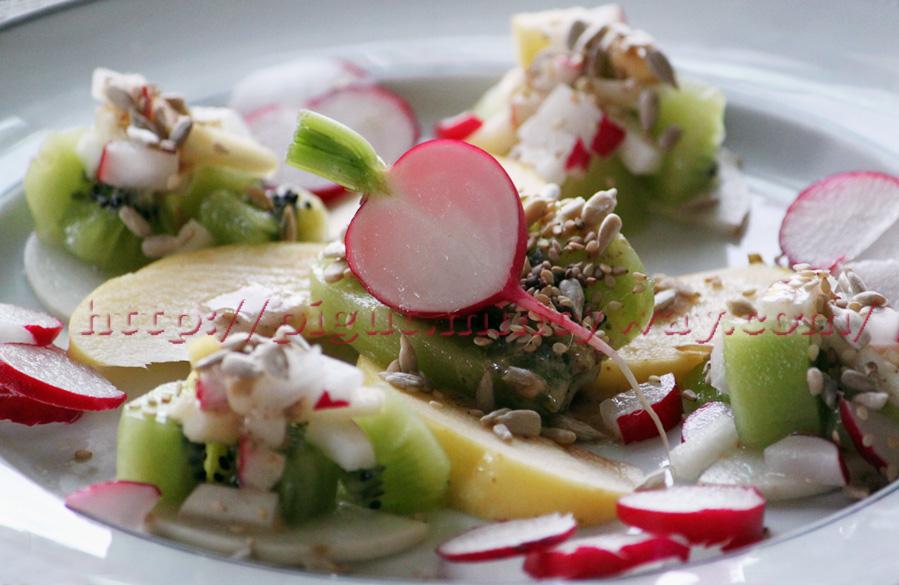 Salade croquante et colorée de Printemps