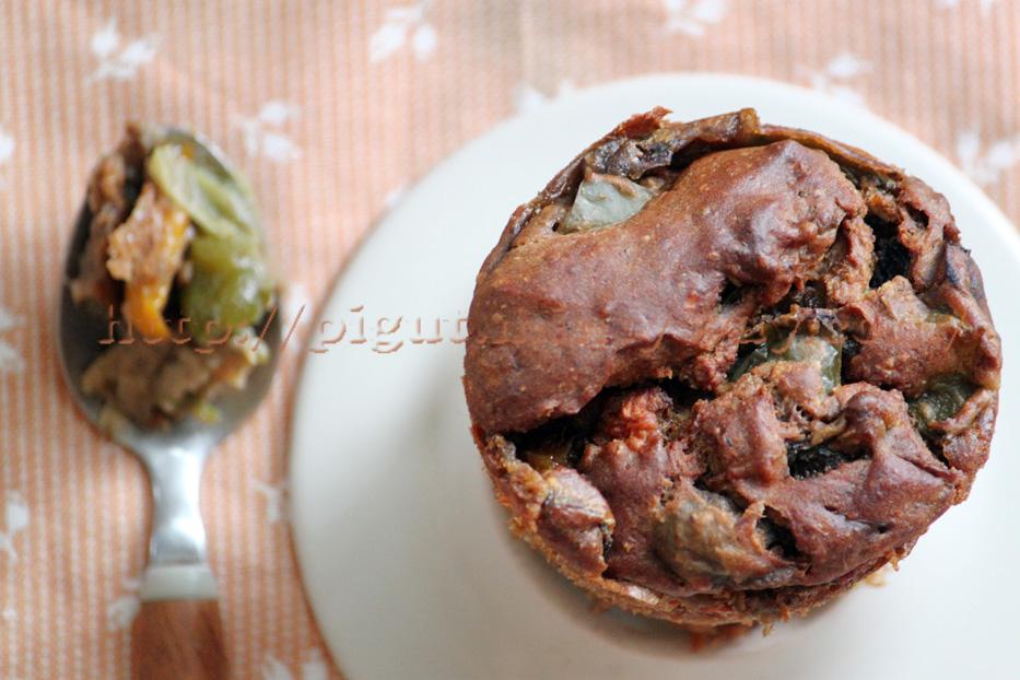 Muffins végétaux salés aux légumes du soleil