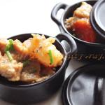 Pommes-de-terre, Carottes et Seitan en Sauce