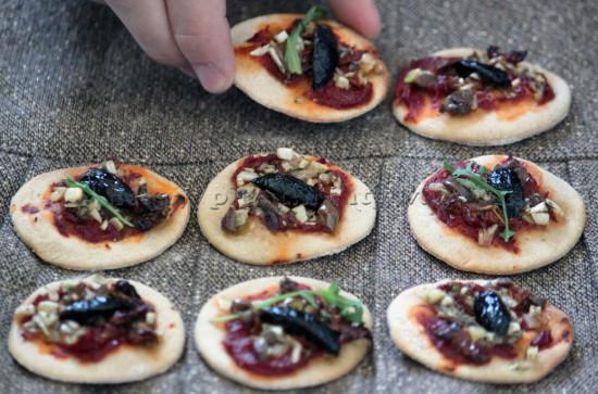 Mini pizzas végétales
