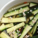 Soupe Fraîche à l'Algue et au Concombre