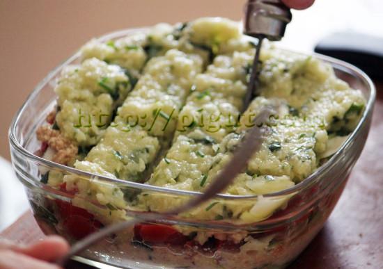 Lasagne vegan crue estivale mangée