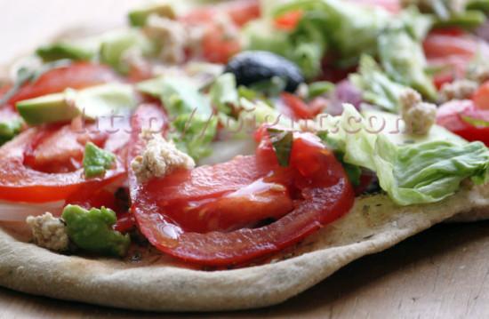 Pizza à la saveurs fraîche estivale