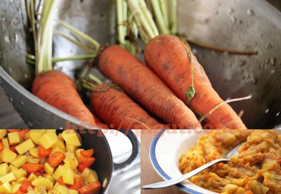 Stoemp de carottes et sa préparation