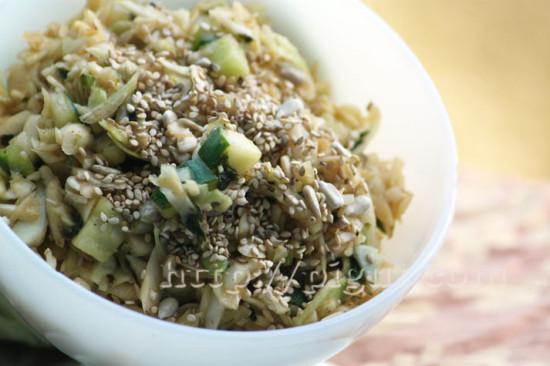 Salade de chou crue aux saveurs d'Asie