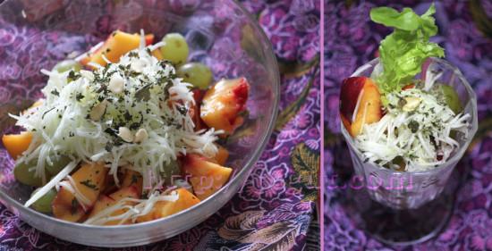 Salade de fruits d'entre saison et pâtisson