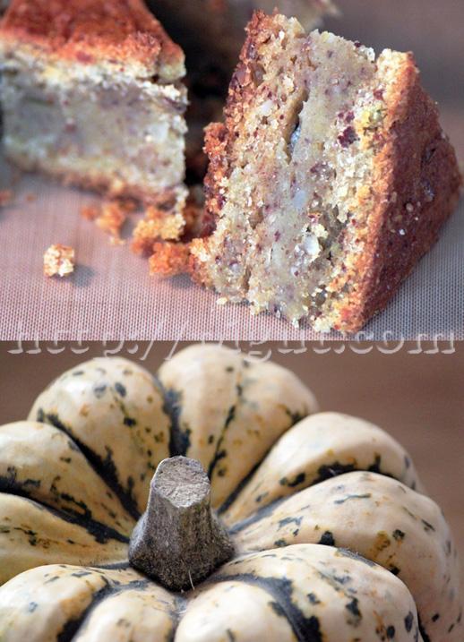 Gâteau végétal à la courge patidou et à l'amande