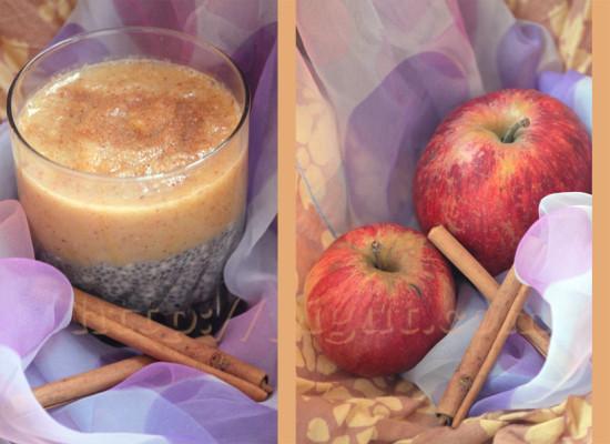 Petit déjeuner de chia, pomme & cannelle