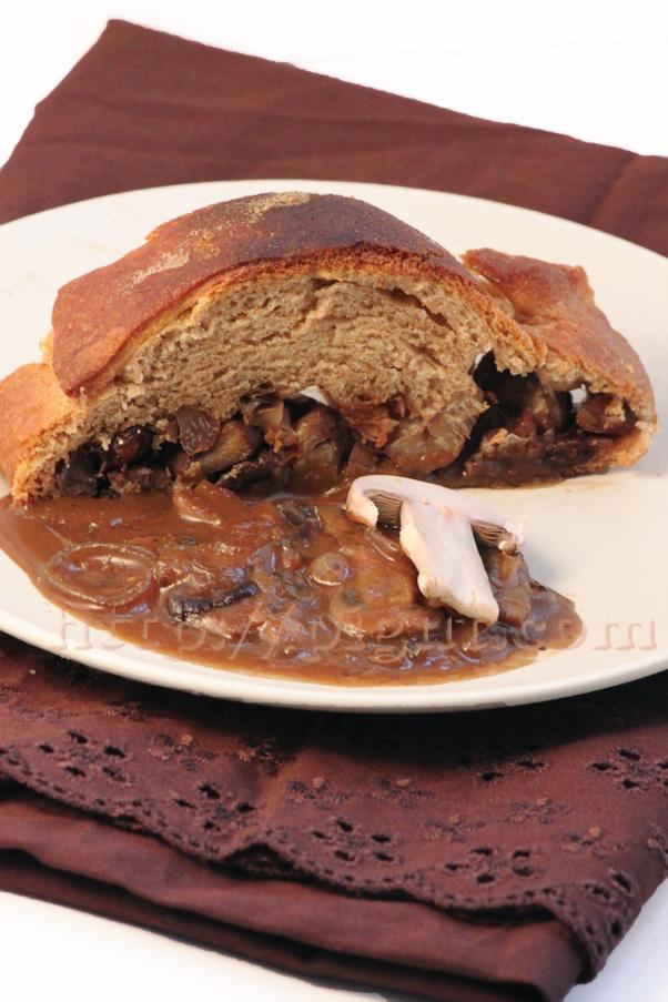 PIGUT - Brioche végétale fourée et sa sauce umami