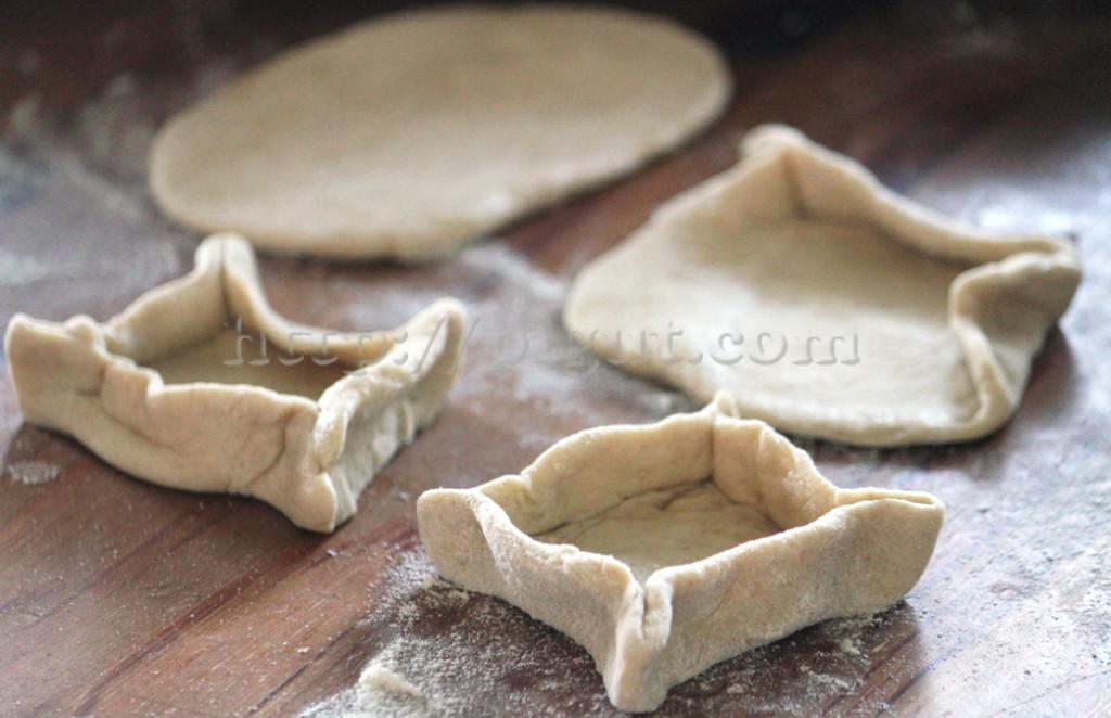 Confection de tartelettes rustiques