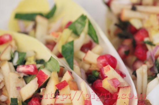 Salade vitaminée d'hiver avec grenade