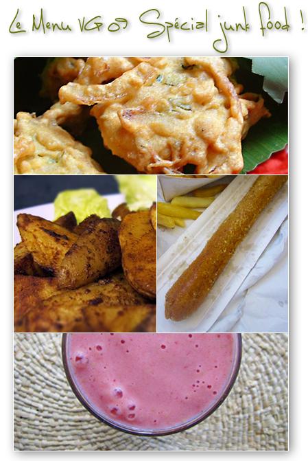 Menu Végétarien Spécial Junk Food hivernal
