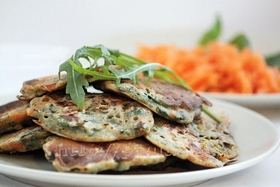 Pancakes végétaux aux légumes