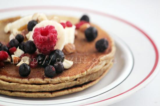 Pancake végétal aux fruits