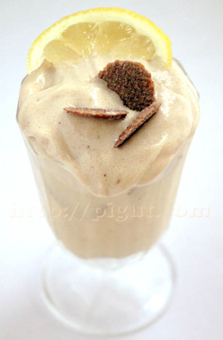 Crème glacée vegan banane citron