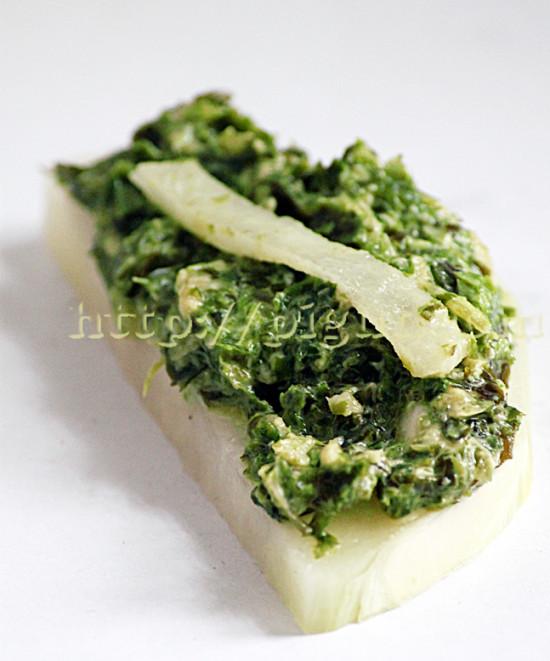 Toast Cru AU Chou-Rave et Tartare d'Algue