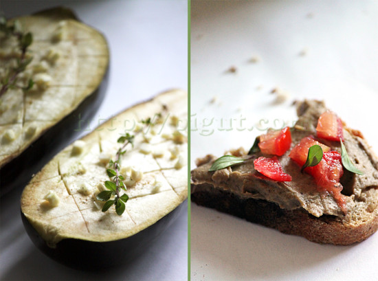 Tartinade d'aubergine vegan