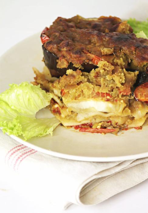 Lasagnes végétariennes aux pois cassés