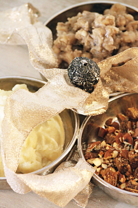 © PIGUT - Haricots blancs, mousseline de céleri, fruits secs à la cannelle