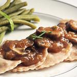 © PIGUT - Raviolis vegan châtaignes sauce champignons