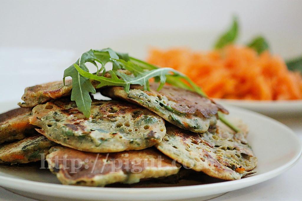 Pancakes vegan salés