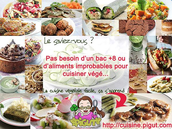 © PIGUT - La cuisine végé ça s'apprend