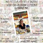 L'e-book Mes Petits Plats des 4 Saisons {75 recettes véganes} disponible au format PDF