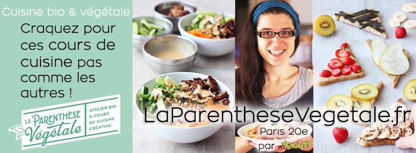 Découvrez mon atelier dédié aux cours de cuisine bio végétale à Paris !