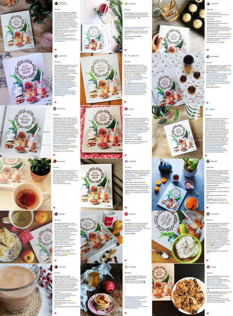 Partages sur le livre de cuisine végane de Melle Pigut