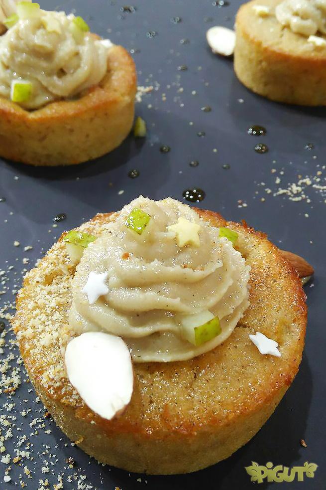 © PIGUT - Muffins véganes poire amande